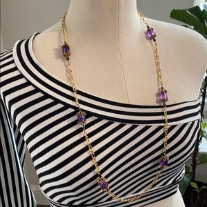Vintage purple and gold necklace